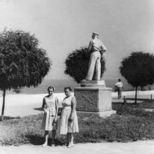 Одесса, в ЦПКиО им. Т.Г. Шевченко, фотограф Пётр Никанорович Бойко, июль 1959 г.