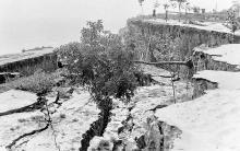 Одесса, оползень на 13-й станции Фонтана, 1957 г.