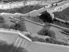 Одесса. Территория между ул. Короленко (от Комсомольского бульвара) и ул. Приморской, в р-не художественного музея (т.н. Швейцарская долина), 1950-е годы