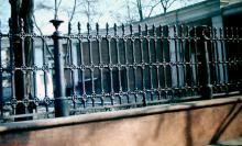 Одесса. Забор художественного музея. Фотограф В.Г. Никитенко, 1975 г.