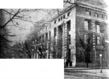 Одесса, ул. Пушкинская угол ул. Воровского, здание универмага. Фото из газеты, 1959 г.