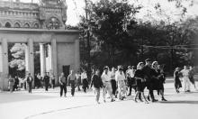 Одесса, центральный вход в ЦПКиО им. Шевченко, начало 1950-х годов