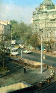 Одесса. Площадь Советской Армии и ул. Садовая. 1984 г.