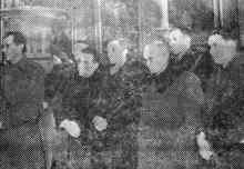Одесса. Представители военных и гражданских властей на освящении художественного музея. Фотограф В. Зегаус, газета «Молва», 11 февраля 1943 г.