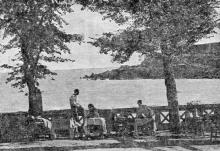 Одесса. Аркадия. Вид из парка. Фотография из сборника «Одесса-курорт» Одесского курортного управления, 1934 г.