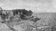Одесса. Пляж в Аркадии. Фотография из сборника «Одесса-курорт» Одесского курортного управления, 1934 г.
