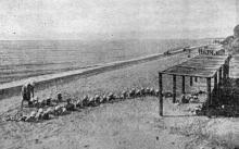 Одесса. Люстдорф. Пляж. Фотография из сборника «Одесса-курорт» Одесского курортного управления, 1934 г.
