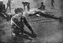 Одесса. Куяльник. «Египетские» грязевые ванны на берегу лимана. Фотография из сборника «Одесса-курорт» Одесского курортного управления, 1934 г.