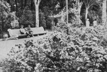 Одесса. Лермонтовский санаторий. В парке. Фотография из буклета «Лермонтовка», 1971 г.