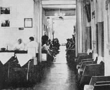 В поликлинике санатория. Фотография из буклета «Лермонтовка», 1971 г.