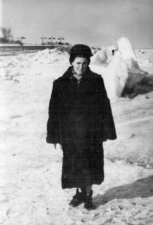 Одесса. Ланжерон. Замерзло море. 1956 г.