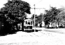 Одесса. Трамвай 30-го маршрута на ул. Фрунзе. Фотограф Анатолий Вилькович. 1967 г.