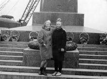 Одесса, на Аллее Славы в парке Шевченко. 21 марта 1970 г.