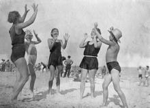 Одесса. На пляже в Лузановке. 1938 г.