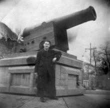 Одесса, трофейная пушка с фрегата «Тигр», 1950 г.