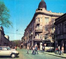 Одесса. Ул. Ласточкина (угол ул. К. Маркса), 1989 г.