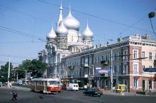 Одесса. Привокзальная площадь, ул. Пантелеймоновская. Фотограф Ernst H. Van Gulden. 2000 г.