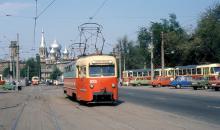 Одесса. Начало ул. Водопроводной, Старосенная площадь. Фотограф Ferdinand Huizer. 11 мая 1990 г.