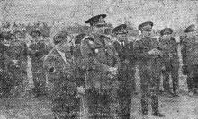«Представители военных и гражданский властей в парке Шевченко» 30 августа 1942 года. Фото в «Одесской газете»