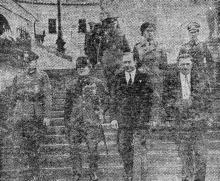 Генерал Ошима, имперский министр Японии в Берлине, во время посещения Одессы 1 августа 1942 года. Фото из «Одесской газеты»