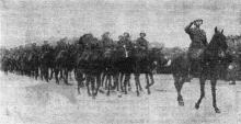 Одесса. Празднование Дня независимости Румынии 10 мая 1942 года. «Румынская кавалерия на параде». Фото из «Одесской газеты»