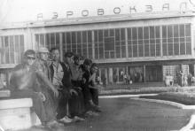 Одесса. На площади перед аэровокзалом