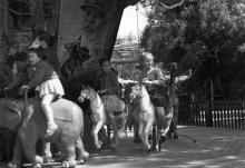 Одесса. Карусель в парке Шевченко. 1962 г.