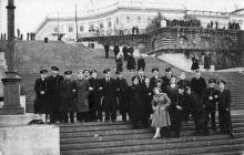 Одесса. На Потемкинской лестнице. 1958 г.