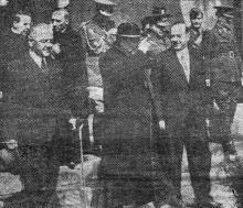 Одесса. Папский нунций (представитель) в Бухаресте Чезаре Касуло на Одесском вокзале. 29 апреля 1943 г. Фото из «Одесской газеты»