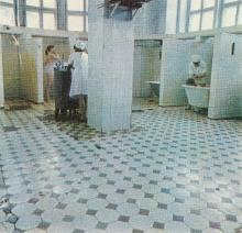 Одесса. Лермонтовский санаторий. В водолечебнице. Фото из справочника «Курорты Одессы», 1976 г.