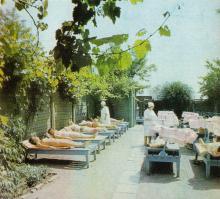 Одесса. Лермонтовский санаторий. Аэросолярий. Фото из справочника «Курорты Одессы», 1976 г.