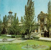 Одесса. Внутренний дворик Куяльницкой поликлиники. Фото из справочника «Курорты Одессы», 1976 г.