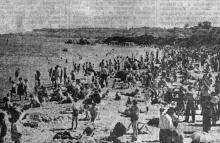 Одесса. Ланжерон. Фотограф В. Зегаус. Фото из газеты «Молва». 18 июня 1943 г.