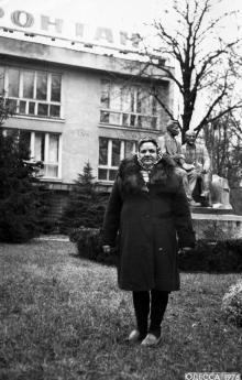 Санаторий «Фонтан». Перед приемным отделением. Одесса, 1976 г.
