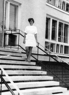 Лестница в приемное отделение санатория «Фонтан». Одесса