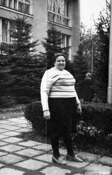 Перед приемным отделением санатория «Фонтан». Одесса, 1976 г.