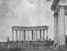 Одесса. Колоннада во дворце Губернаторства. Фото из газеты «Молва». 1 декабря 1943 г.