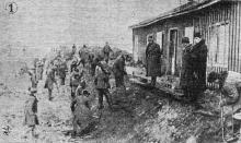 Одесса. Сооружение каналов для отвода воды на Пересыпи. «Одесская газета», 20 февраля 1942 г.