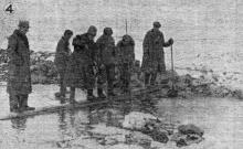 Одесса. Работы по восстановлению дамбы на Хаджибеевском лимане. «Одесская газета», 20 февраля 1942 г.