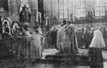 Одесса. Молебен в Кафедральном соборе. «Одесская газета», 19 апреля 1942 г.