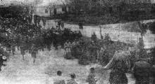 Одесса. Траурная процессия из Кафедрального собора. «Одесская газета», 16 мая 1942 г.