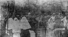 Одесса. «Панихида у могил в Александровском парке». «Одесская газета», 16 мая 1942 г.