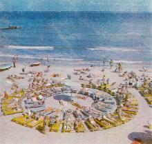 Одесса. Пляж «Аркадия». Фотография из справочника «Курорты Одессы», 1976 г.
