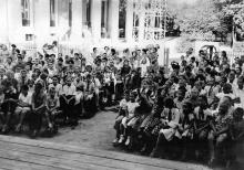 Одесса. Праздник кружковцев перед началом учебного года. 1957 г.