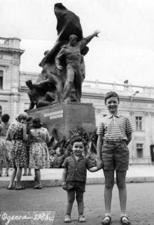 Одесса, на площади К. Маркса, 1965 г.