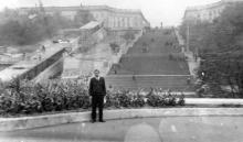 Одесса. Строительство эскалатора на Потемкинской лестнице