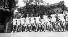 Первомайская демонстрация в Одессе, ул. Пушкинская. 1927 г.