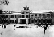 Главный вход в санаторий им. Л.М. Кагановича в Одессе. Конец 1920-х гг.