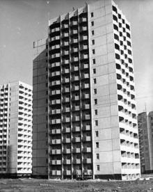 Новые жилые дома на ул. Бочарова. Одесса. Фото И. Павленко. 1977 г. (№10705)