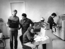 Фототелеграф «Газета-2» в издательстве «Чорноморська комуна». Одесса. Апрель, 1984 г. (8520)